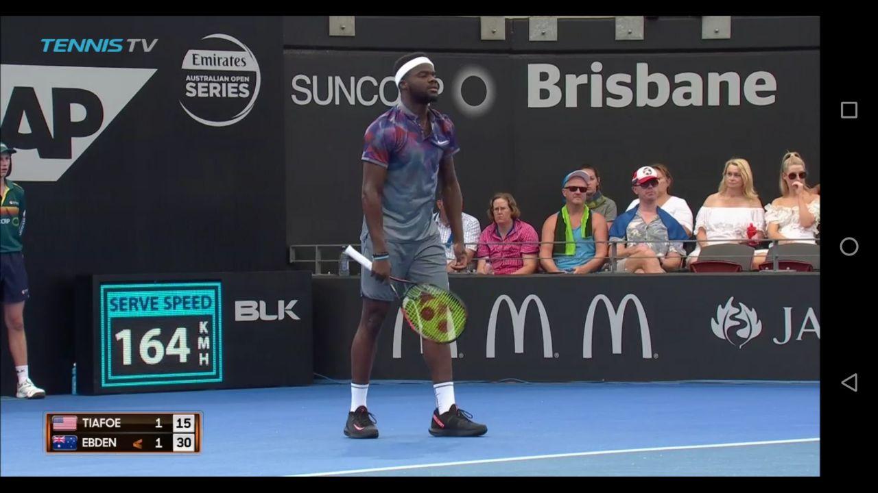 frances tiafoe nikecourt black pink tennisshoe nike 2018 brisbane